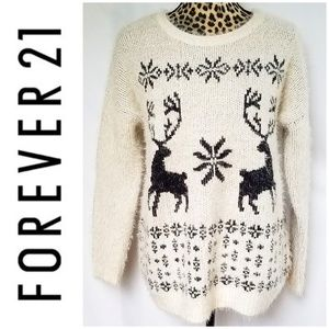 Forever 21 Reindeer Winter Sweater